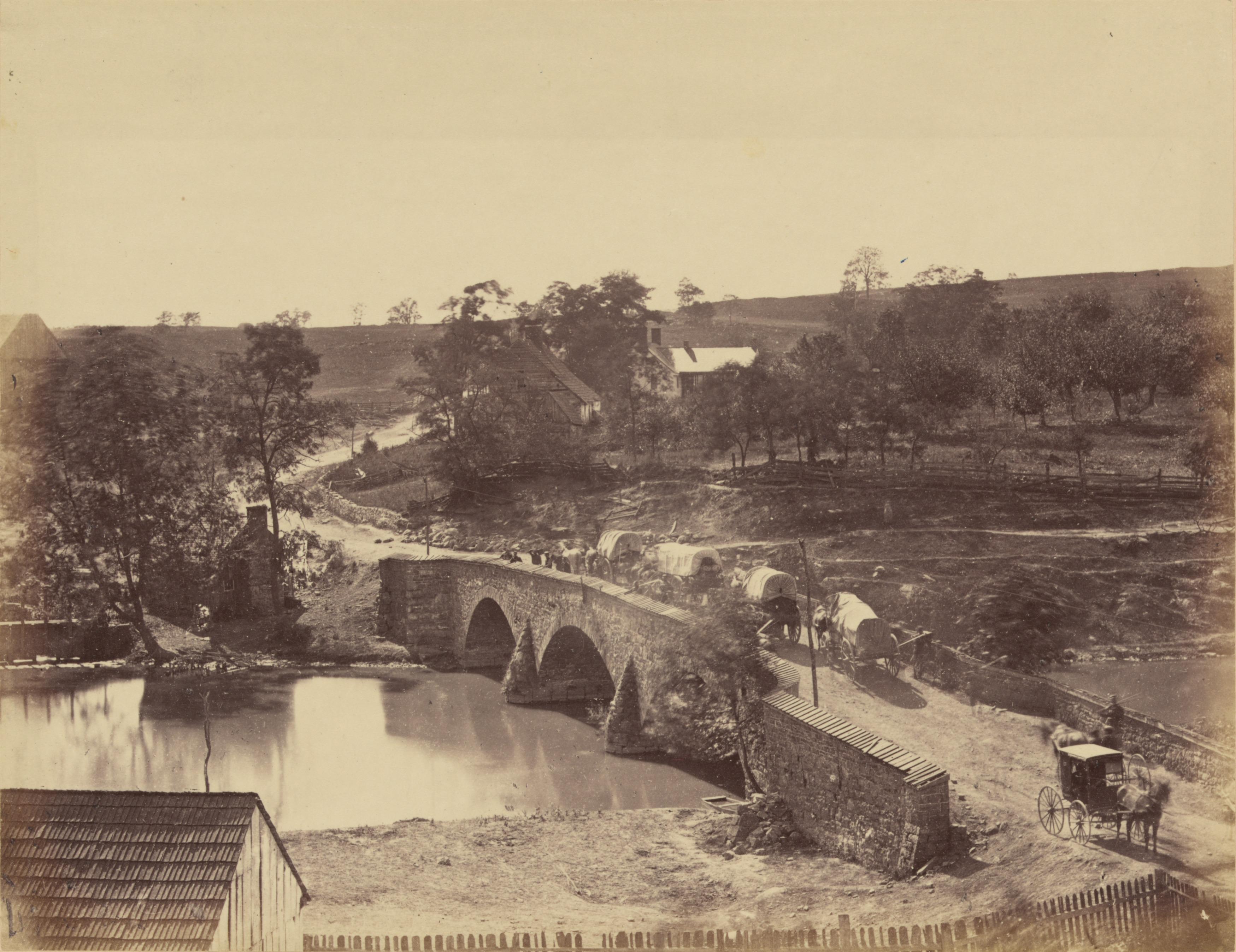 Antietam Bridge Alexander Gardner 1862